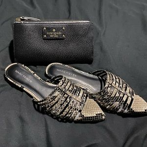 Marc Fisher Snake Print Mules